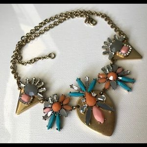 🔥JCrew MulticolorRhinestoneCrystal Inlay Necklace